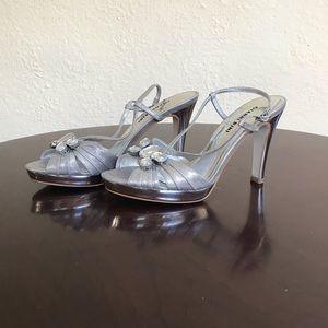 Silver Gianni Bini heels